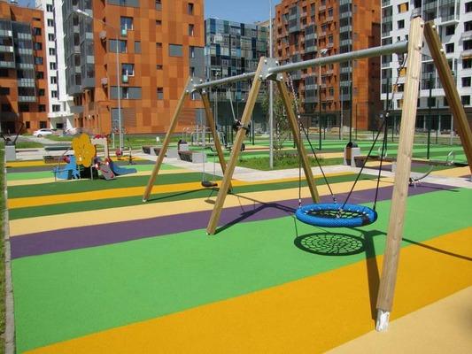 Советы по выбору безопасного покрытия детской площадки